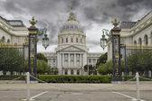 Stormy Sky over San Francisco City Hall — Stock Photo