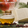 Holy bible with tea — Stock Photo