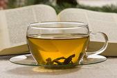 Tea and Holy bible — Stock Photo