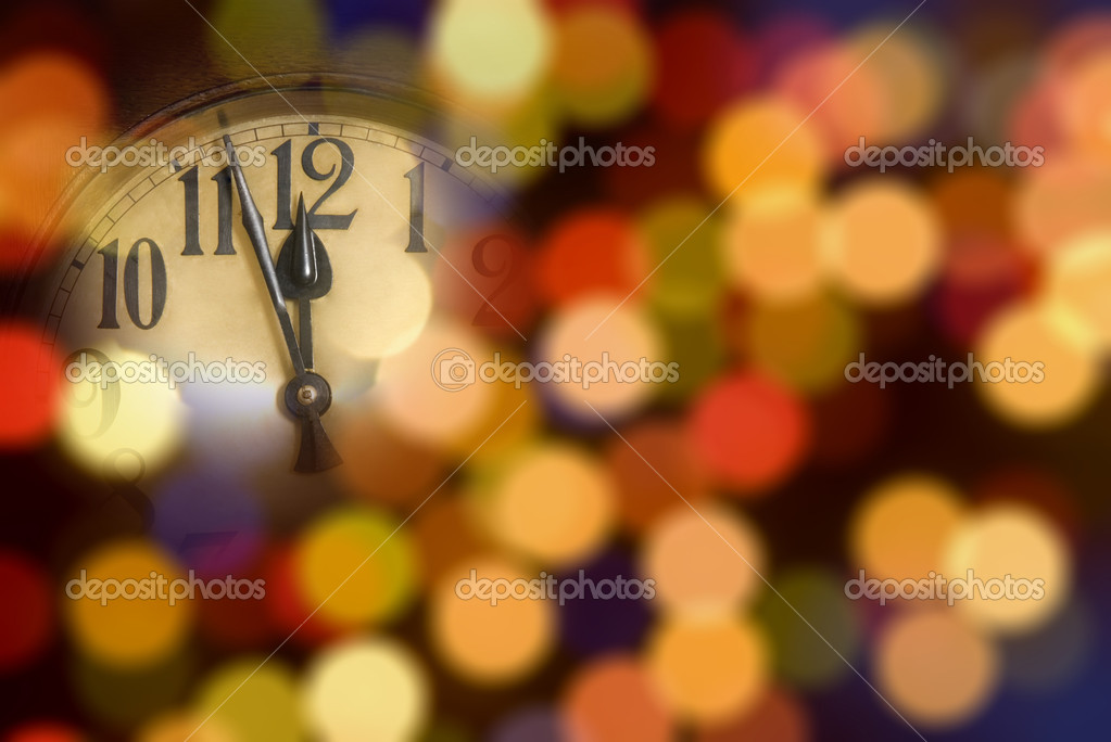 New year clock — Stock Photo #7177896