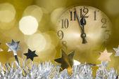 New year clock — Stock Photo