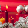 Christmas candle - Stock Photo