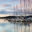 Harbor at sunset — Foto Stock