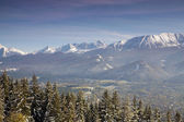 Panoramic view of Tatra Mountain — Stock Photo