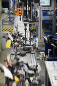 Production Line of MacPherson suspension — Stock Photo