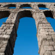Roman aqueduct of Segovia - Stock Photo