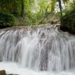 Waterfall at the Monasterio de Piedra — Stock fotografie