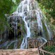 "Stock Photo: Waterfall at the ""Monasterio de Piedra"""