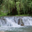 "Waterfall at the ""Monasterio de Piedra"" — Stockfoto"