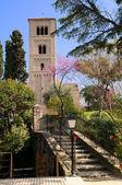 Romanesque Monastery in Poble Espanyol, Barcelona — Stock Photo