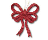 Red Christmas bow — Foto Stock