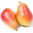 Two ripe pears, isolated on white — Stok fotoğraf