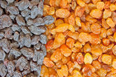 Mixed raisins background — Stockfoto