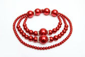 Red necklace — Stockfoto