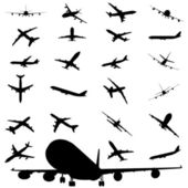 Airplane silhouette — Stock Vector