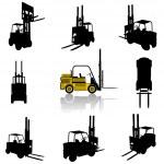 Forklift silhouette — Stock Vector #6969156