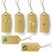 Eco product tags — Stock Vector