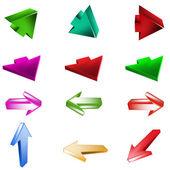 Vector arrow set — Stock Vector