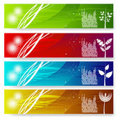Four vector colorful banner — Stock Vector