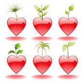 Alla hjärtans element — Stockvektor