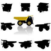 Big truck silhouette — Stock Vector