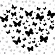 Royalty-Free Stock Vector Image: Butterfly black
