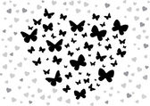 Butterfly black — Stock Vector