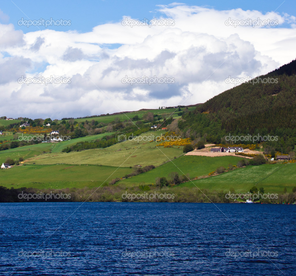 Scotland. Lakeshore landscape. Loch Ness. May 2011. — Stock Photo #6826964