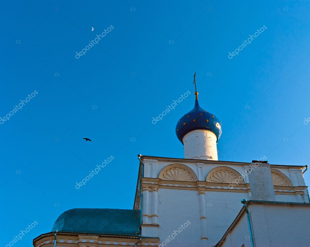 Sky view with dome of russian church. Historical town. May 2009  Stock Photo #6849957
