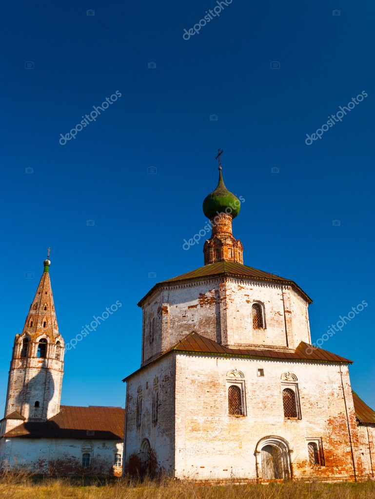 Russian orthodox church on spring.  — Stock Photo #6929064