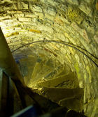 Spiral stair in the medieval castle — Stock Photo
