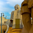 Barcelonroof of casmila — Stock Photo #6965234