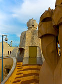 Barcelona roof of casa mila — Stock Photo