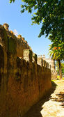 Medieval muslim fortress city wall in Sevilla — Stock Photo