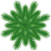 Rama de un árbol de navidad — Vector de stock