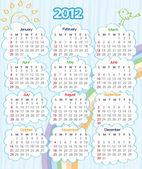2012 year calendar — Stock Vector