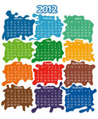 2012 year calendar — Stock Vector