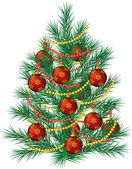 Realistic vector Christmas tree. — Stock Vector