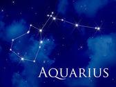 Constellation Aquarius — Stock Photo