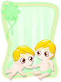 Gemelos recién nacidos — Foto de Stock