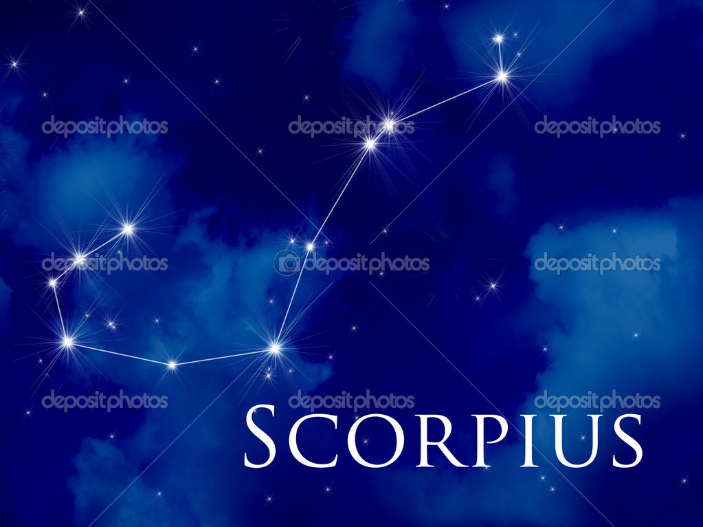 Night sky with Scorpius constellation — Stock Photo #6877692
