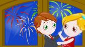 New year dance — Stock Photo