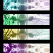 Set abstract banners — Stock Photo