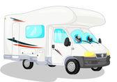 White camper — Stock Photo