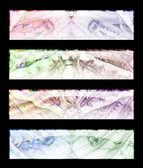 Cztery transparent — Zdjęcie stockowe
