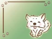 Dog frame — Stock Photo