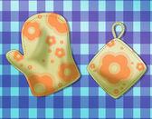 Piekarnik rękawicy — Zdjęcie stockowe