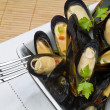 Royalty-Free Stock Photo: Mussels with Butter Sauce
