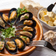 Royalty-Free Stock Photo: Mussels in garlic butter sauce