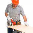 Isolated manual worker - Stock Photo